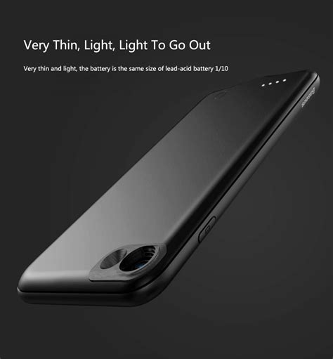Baseus Powercase Powerbank For Iphone 7plus 3650mah baseus luxury power bank battery backup charger cover
