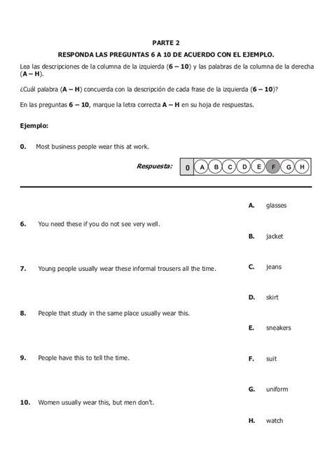 preguntas en ingles hotel icfes ejemplo de preguntas ingl 233 s 2010