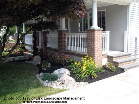 Front Yard Landscape Designs With Before And After Pictures Front Porch Landscaping Ideas