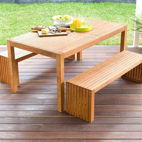 wooden garden bench and table set 3 piece wooden table and bench set kmart