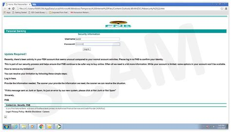 Fnb Credit Letter Current Scams Fraud Prevention Security Fnb