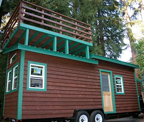 Tiny House Deck by Venture By Molecule Tiny Homes Tiny Living