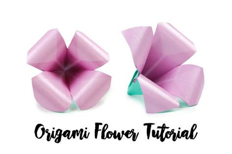 How To Make Flower In Origami - come creare un facile fiore di origami casa 2018
