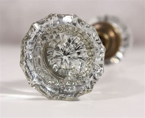 Vintage Glass Door Knobs by Antique Fluted Glass Door Knob Sets From
