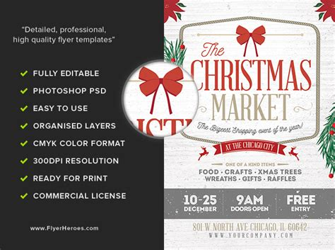 Rustic Christmas Flyer Template Flyerheroes Rustic Flyer Template
