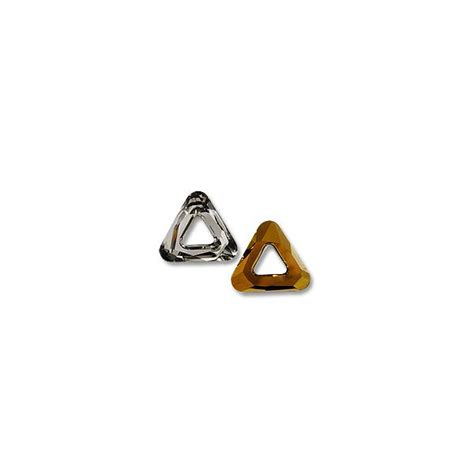 swarovski jewelry supplies swarovski cosmic triangle 4737 20mm dorado