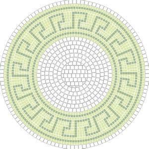 Mosaik Muster Vorlagen Drucken mosaik vorlage bachus d 60cm incl kohlepapier v1309