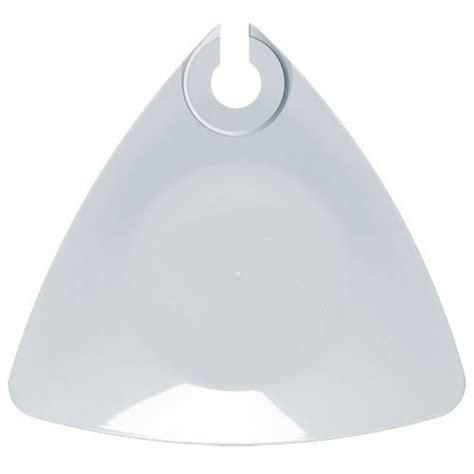 emi yoshi triangle buffet plate with wine holder white