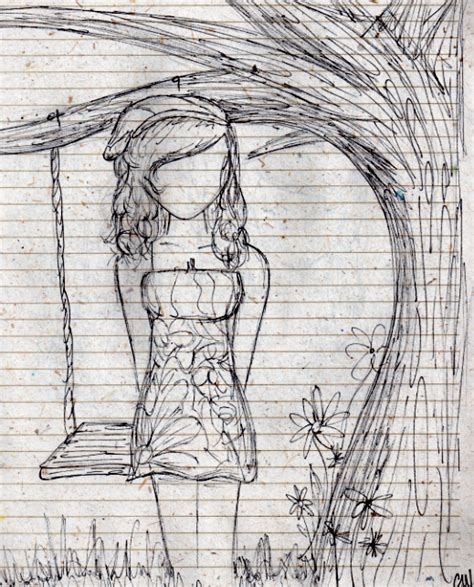 tree with swing drawing beneath the tree swing by sweet catastrphe on deviantart