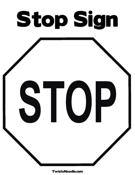Stop Sign Outline Free Download Clip Art Free Clip Art Stop Sign Coloring Page