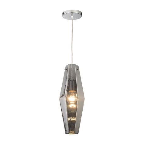 pelham home depot pelham 1 light polished chrome pendant