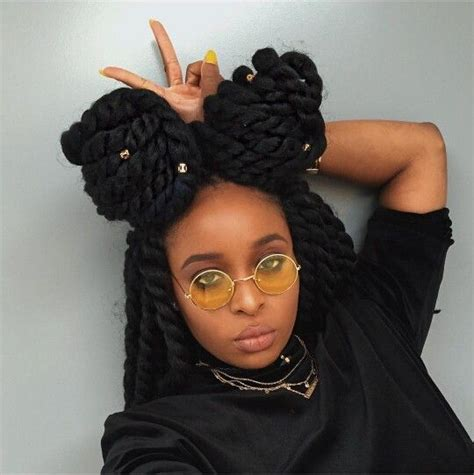box braids two buns hairstyle pics 40 crochet braids hairstyles and pictures