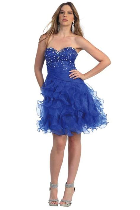 Mixxy Dress strapless beaded bodice ruffled skirt prom formal dress dresses