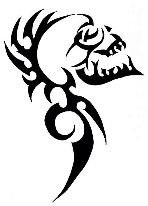 skull tribal tattoos 23 best tribal skull stencils images on