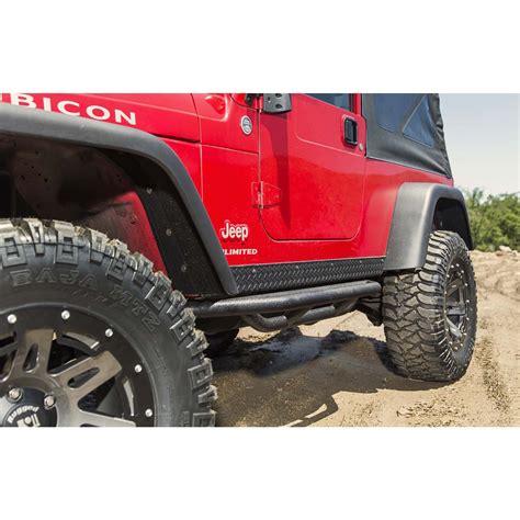 rugged ridge catalog rugged ridge 11504 13 rrc side armor guards 87 06 jeep wrangler