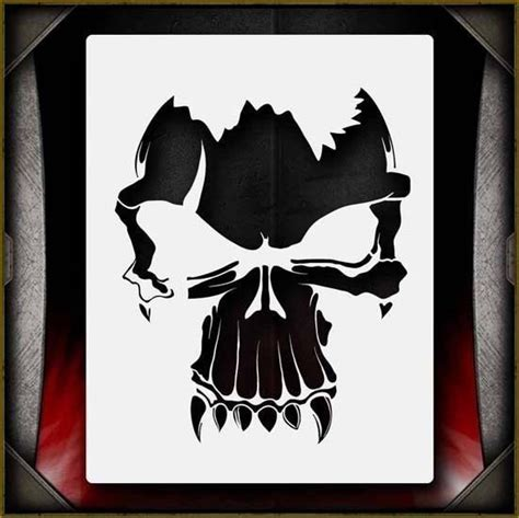 quot skull 1 quot airbrush stencil template airsick ebay