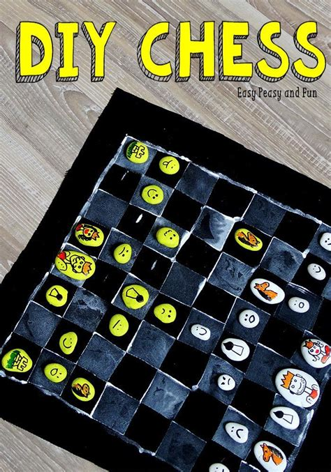 diy chess board 6 diy chess board game board games game and diy and crafts