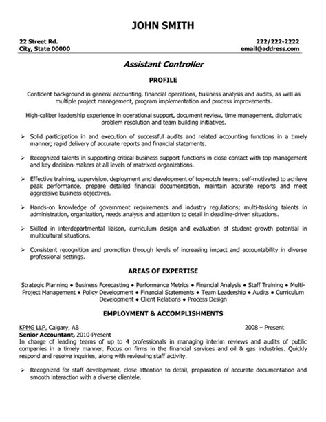 Resume Format Doc For Account Assistant Assistant Controller Resume Template Premium Resume Sles Exle
