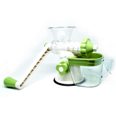 etrue cranked healthy juicer green