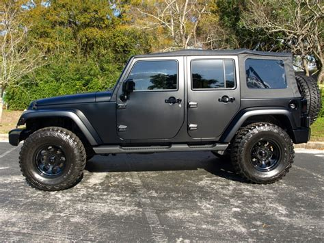 Matte Black Jeep Wrangler I Want The Red Tank
