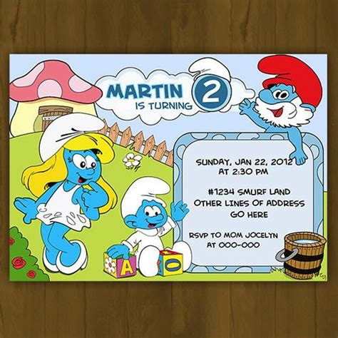 Smurf Baby Shower Invitations by 17 Best Images About Smurfs Ideas On
