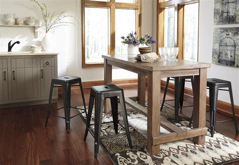 ashley pinnadel rectangular counter height dining table in signature design by ashley pinnadel d542 13 rectangular