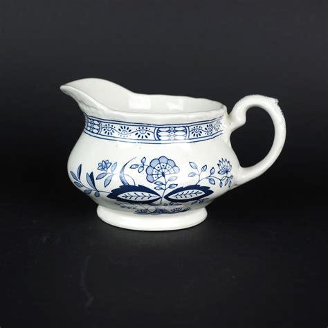 blue heritage pattern dishes wedgwood blue heritage pattern porcelain creamer vintage