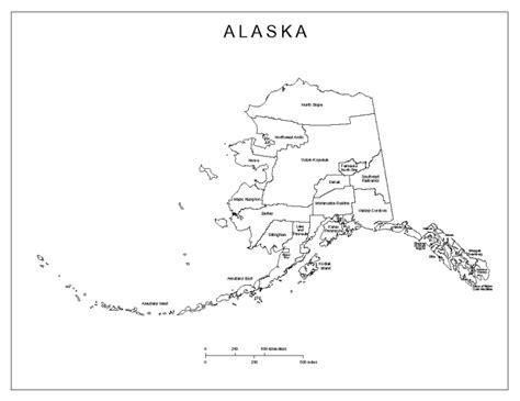 alaska map coloring page printable alaska labeled map