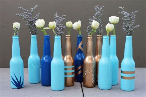 diy basics beer bottle bud vases brit co