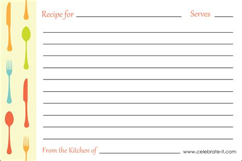 Esl Recipe Card Template by Free Printable Recipe Card Esl Recipe