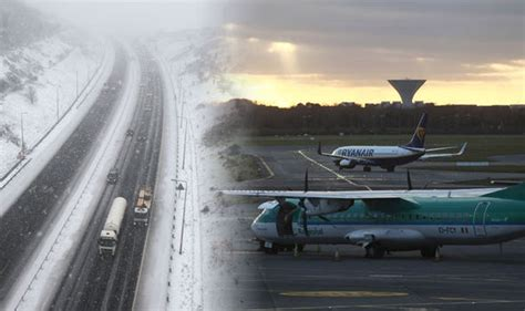 snow travel warning dublin airport closed again thanks to