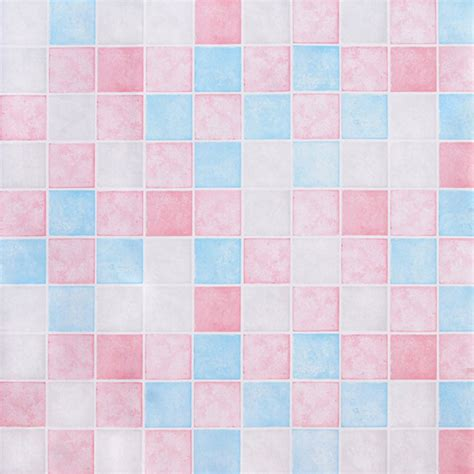 blue pattern contact paper pink blue tile contact paper peel stick wallpaper