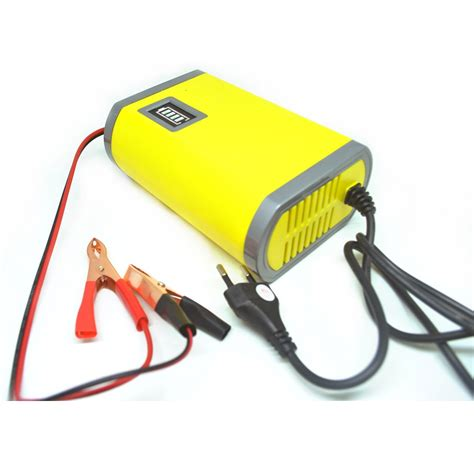 Portable Motorcycle Car Battery Charger 6a 12v Portable Motorcycle Car Battery Charger 6a 12v Yellow Jakartanotebook