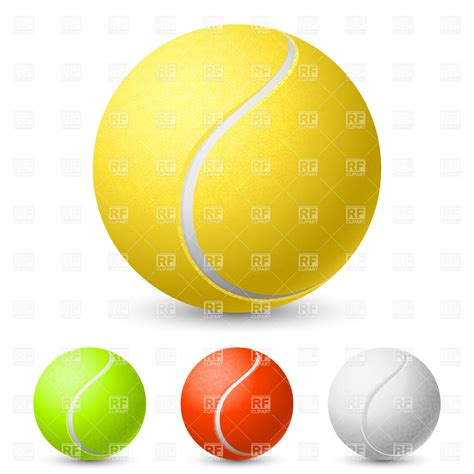 what color is a tennis realistic tennis in different colors vector image
