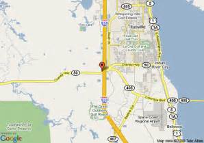 map of titusville florida map of hton inn titusville i 95 kennedy space center
