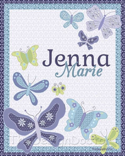nojo beautiful butterfly comforter custom hand drawn nojo beautiful butterflies baby name