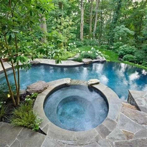flagstone decoration for long swimming pool for small yard 246 best images about hot tub ideas jacuzzi and spa on