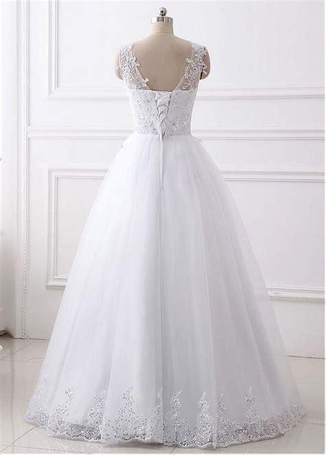 marvelous chiffon lace tulle v neck neckline 2 in 1 in stock marvelous tulle v neck neckline a line wedding