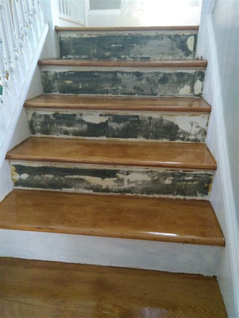Home Interior Design Steps by Repair How To Cover Old Stair Risers Home Improvement
