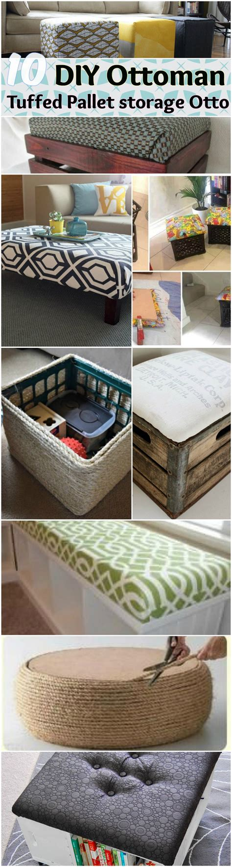 ottoman ideas diy storage ottoman ideas from recycle crates and pallets