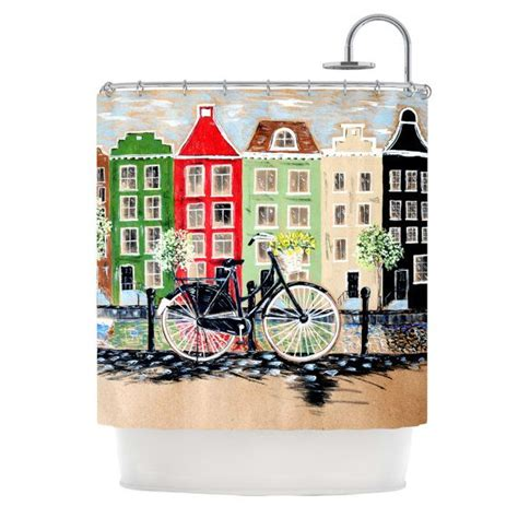 Bicycle Shower Curtain by Shower Curtain Bicycle Christen Treat