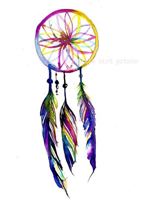 watercolor dreamcatcher tattoos watercolour dreamcatcher design