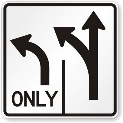 8 Signs Its Only A Rebound by Left Only Traffic Sign R3 8l Sku X R3 8l