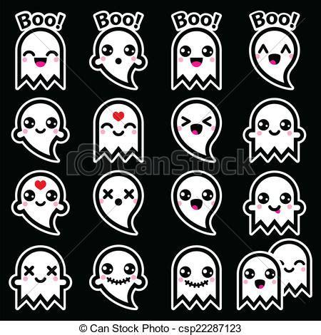 imagenes kawaii de hallowen ilustraciones de vectores de kawaii lindo halloween
