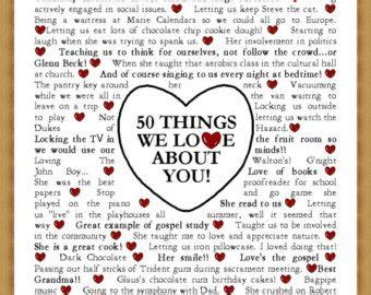 Template For The  Things We Love About You By