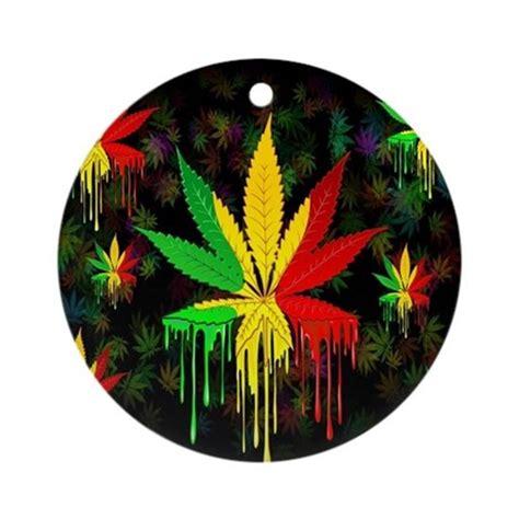 marijuana leaf rasta colors paint ornamen by