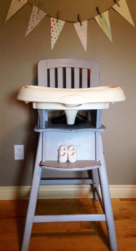 grey wooden high chair re loved eddie bauer wood high chair painted in ascp