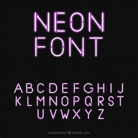 font neon pretty neon font vector free download
