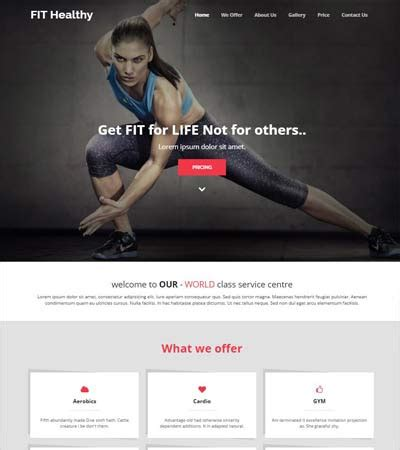 bootstrap themes gym best sports fitness website templates free download