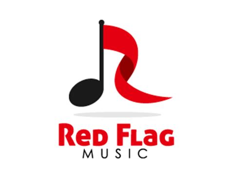 design a music logo for free red flag music designed by gideon6k3 brandcrowd
